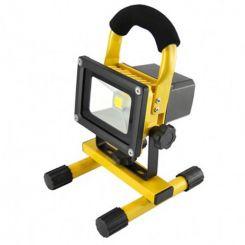 RA 20w Rechargeable LED Floodlight 6000K 1000lm Yellow Fixture & Black Lamp LEDFL20YR